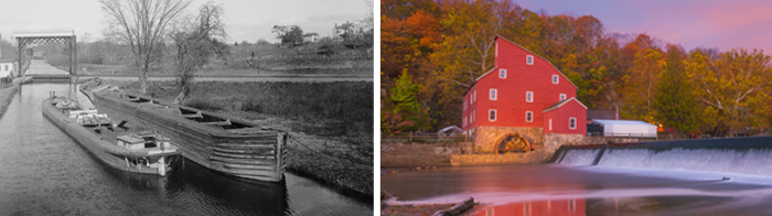 Morris Canal, Red Mill in Clinton
